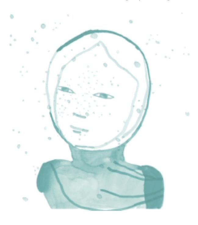 Tekening van een gezicht